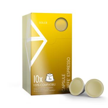 """10 Capsule nespresso-compatibili """"Oro"""""""